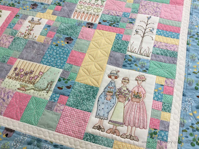 Evelyn's Garden Stitchery Quilt