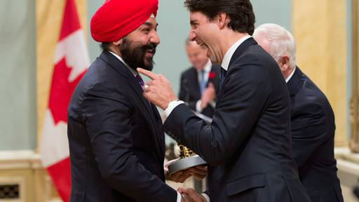 Justin Trudeau and Navdeep Bains