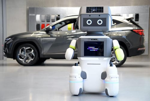 Hyundai Motor Company launched a customer service robot in its showroom