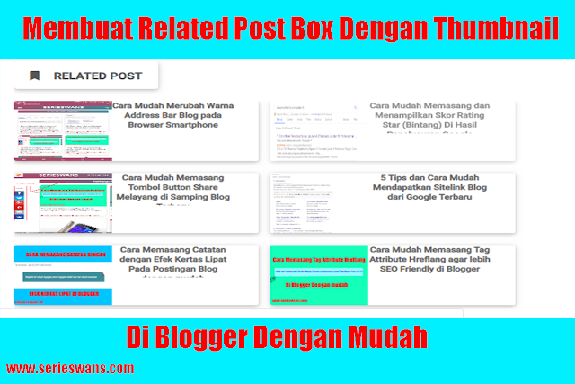 Cara Membuat Related Post Box Thumbnail Image Responsive di Blog