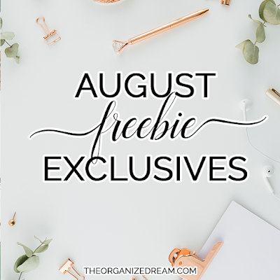 Newsletter and Facebook group freebies for August 2019.  #freebies #goodies
