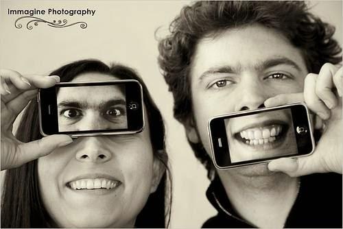 Como usar celular sessão de fotos de casal
