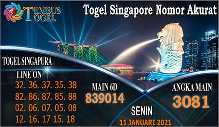 Prediksi Tembus Togel Singapura Senin 11 Januari 2021
