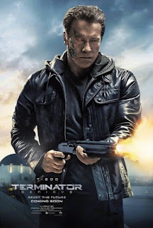 Arnold Schwarzenegger Terminator T-800 Terminator Genisys movie poster wallpaper image screensaver picture