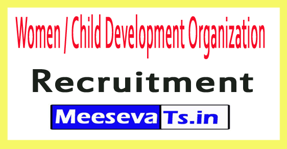 Women / Child Development Organization WCDO Recruitment 2017-18