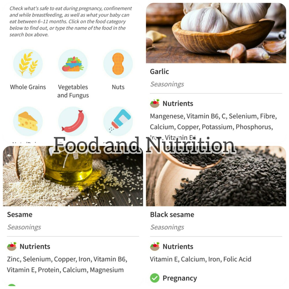 food and nutrition information for baby