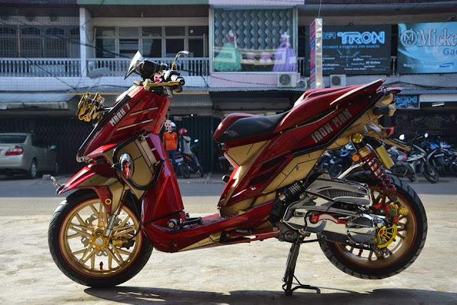 Modifikasi YamahaX Ride Terbaru Tampilan Supermoto Trail Adventure, Touring dan Ring Velg 17