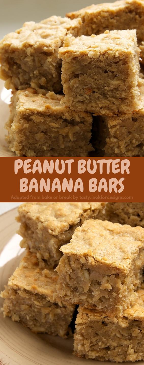 Peanut Butter Banana Bars Recipe