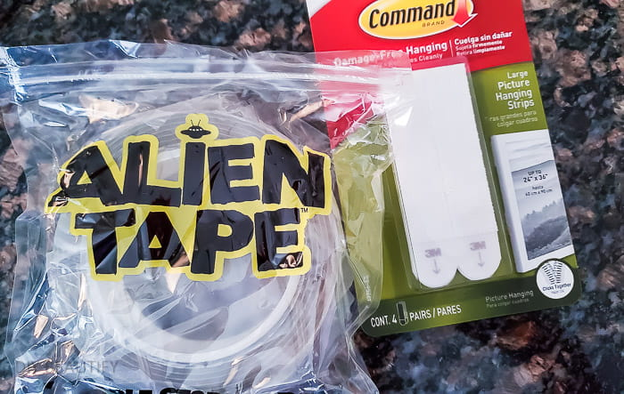 Alien Tape and Command strips