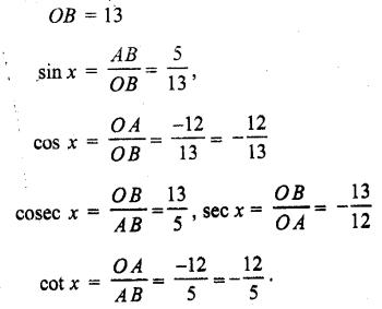 Solutions Class 11 गणित-I Chapter-3 (त्रिकोणमितीय फलन)