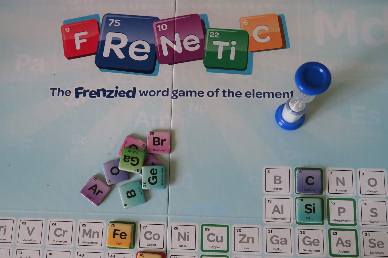 close up of the frenetic board game