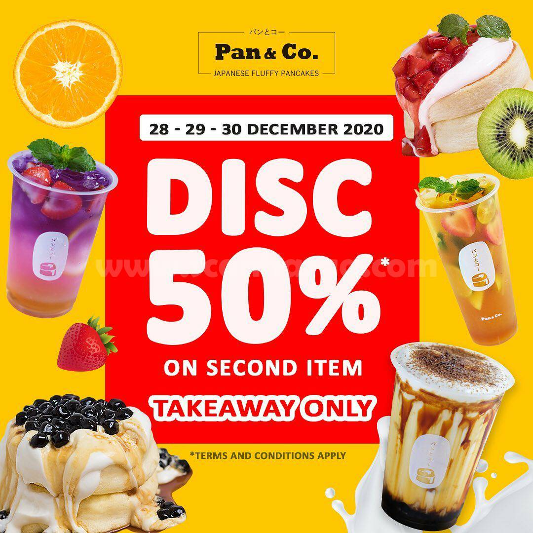 Pan & Co Promo Takeaway Deals – Discount 50% on second item