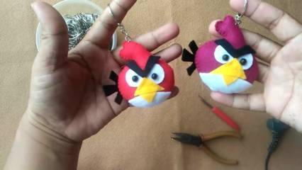Cara Membuat Boneka Angry Bird dari Kain Flanel