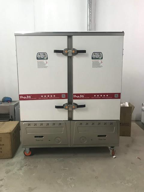Tủ nấu cơm 24 khay gas điện