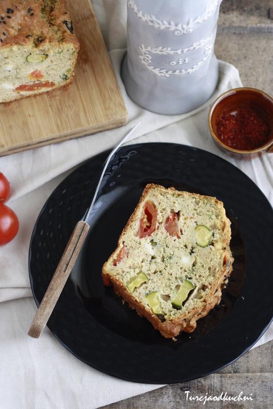Słone ciasto z warzywami / Tuzlu kek