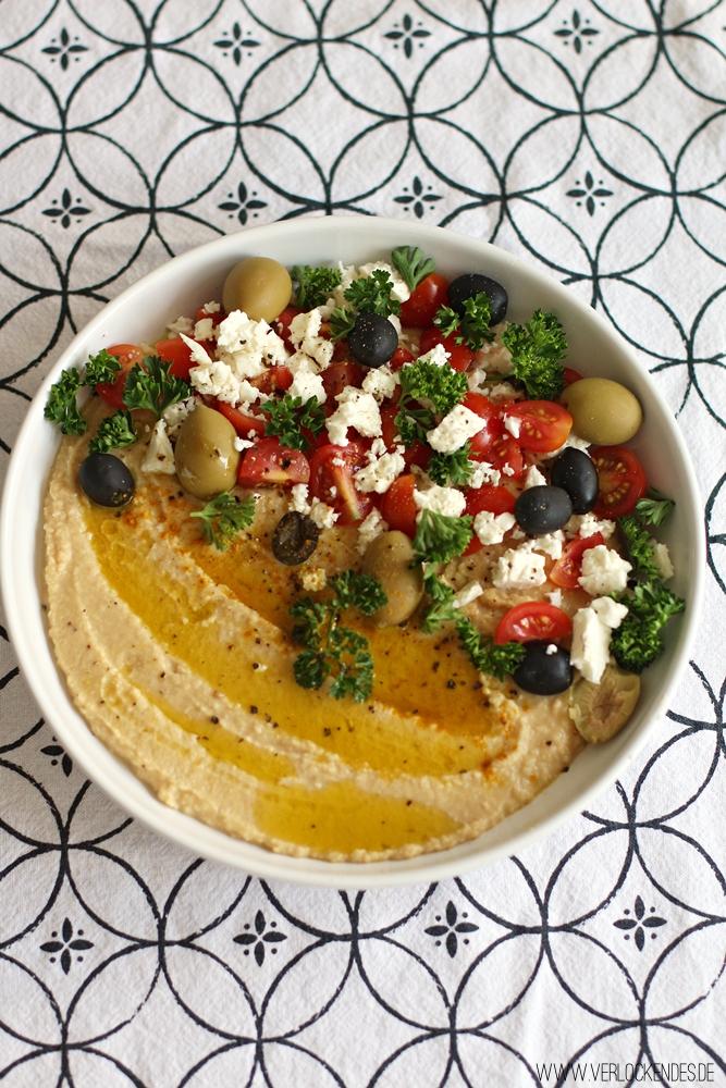 Hummus dekorieren