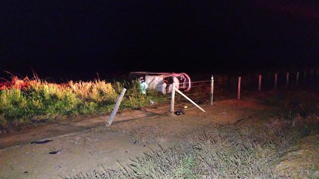 Homem morre após capotamento de carro na RO-257 em Ariquemes, RO