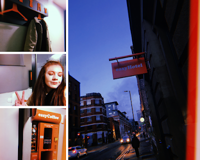 photo collage of the easyHotel in manchester