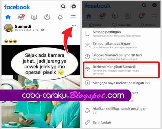 Cara Blokir Status Seorang Teman di Facebook Cara Menyembunyikan Status Teman di Beranda Facebook