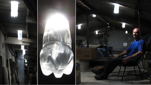 Liter of light un litro di luce con sole acqua e candeggina
