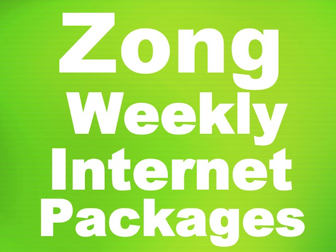 Zong Weekly Internet Packages - Price & Details