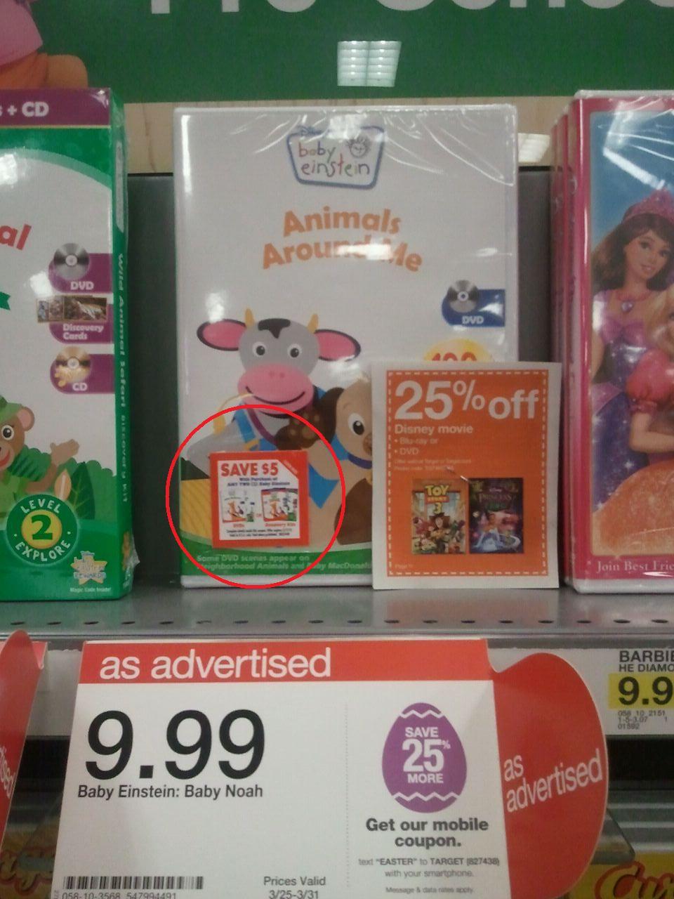 Calhoun Clip N Savers Baby Einstein Dvd S Target