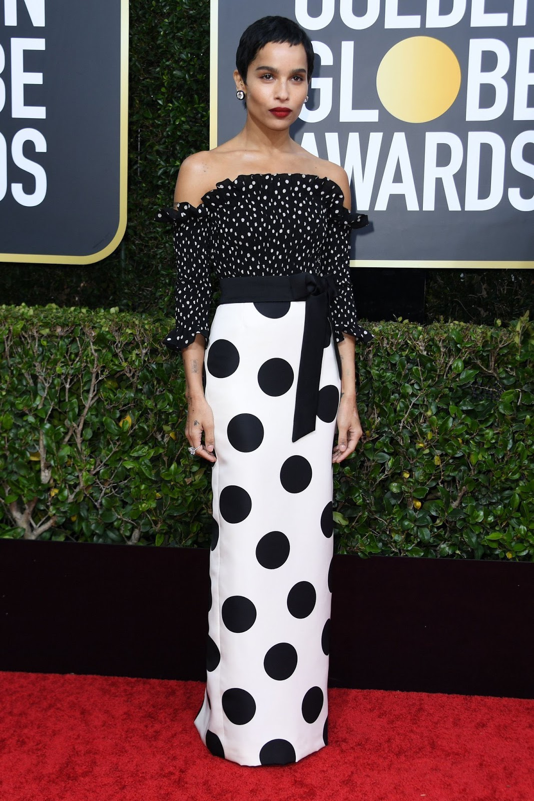 Zoe Kravitz at the 77th Golden Globe Awards' red carpet