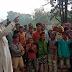 कोटेदार के खिलाफ ग्रामीणों ने गांव में किया प्रदर्शन