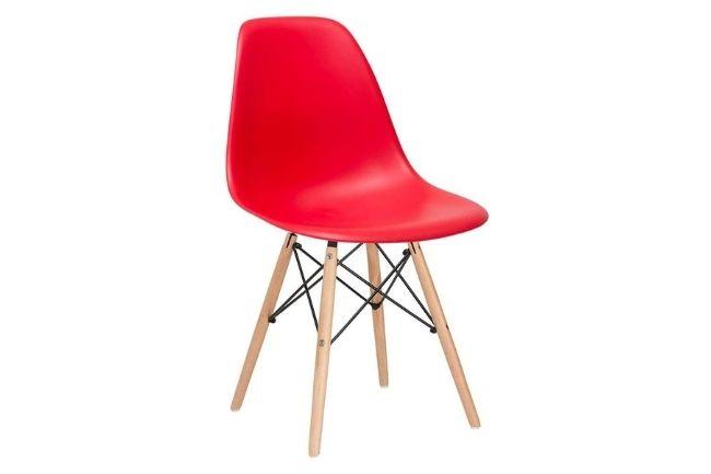 Cadeira Charles Eames Eiffel Dsw Vermelho Madeira Clara da Loft 7