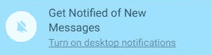 Notifikasi WhatsApp dari komputer laptop