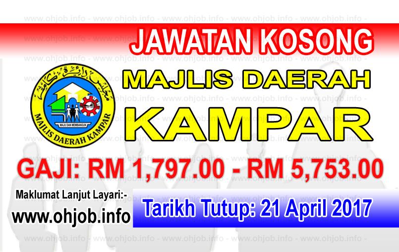 Jawatan Kerja Kosong Majlis Daerah Kampar logo www.ohjob.info april 2017
