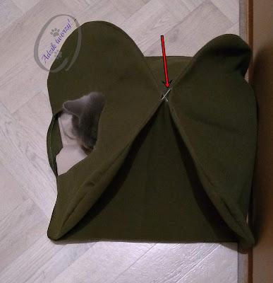 diy namiot tipi dla kota