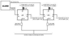 Chrysler Single Wire Door Lock/Unlock Alarm System