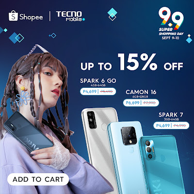 9.9 Sale is the  best time to shop for a brand new TECNO Mobile smartphone