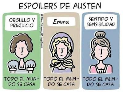 Meme de humor sobre Jane Austen