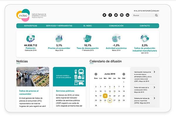 Nueva versión del sitio web del INDEC ya se encuentra disponible #casodeestudio