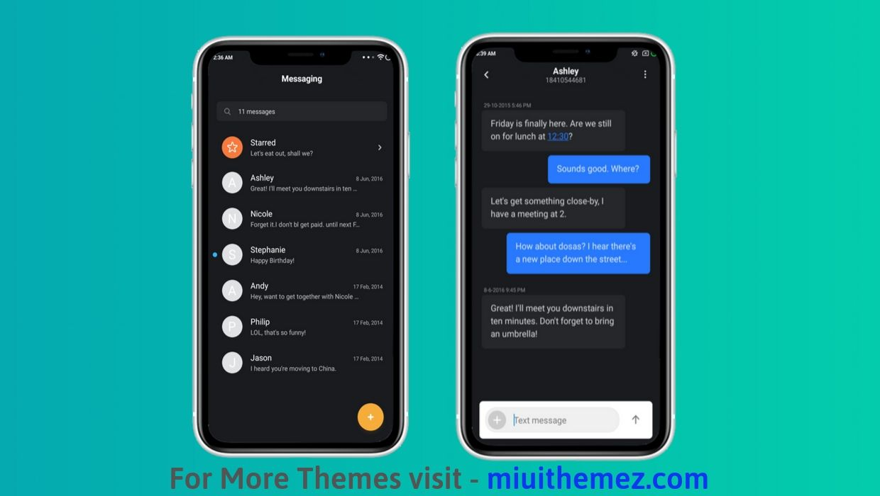Dark iOS Theme for MIUI
