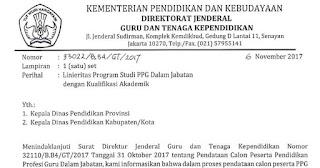 Daftar Linieritas Ijazah S-1/D-IV PPG Dalam Jabatan