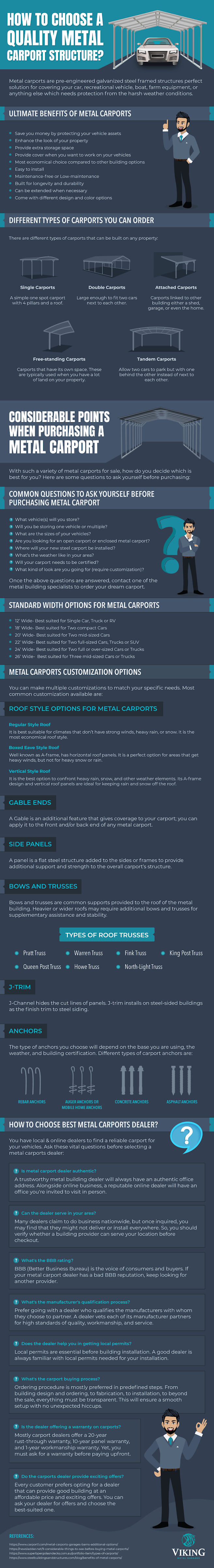 How to Choose A Quality Metal Carport Structure? #infographic #Construction #infographics #Metal Carport