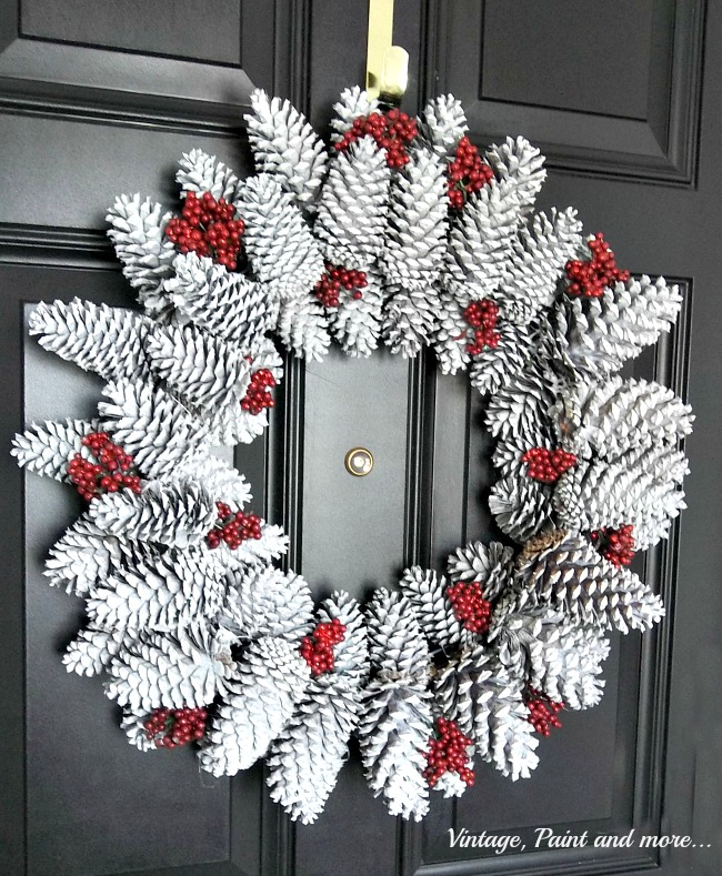 Pine Cone Wreath Tutorial Vintage Paint And More