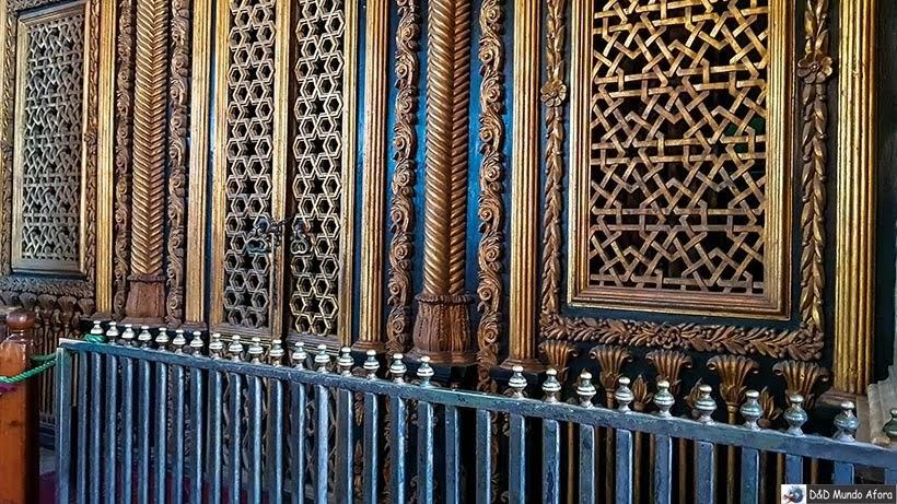 Detalhe do Mausoléu do Mohamed Ali na Mesquita de Mohamed Ali