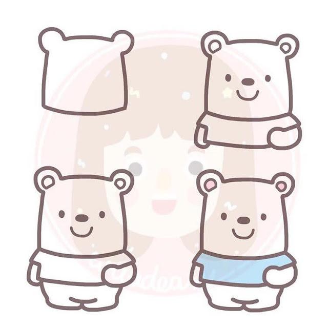 Cara menggambar beruang kutub untuk anak-anak