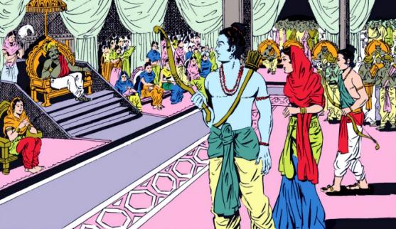 Ramayana play in front of Vajranabha by Pradyumna