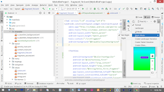 Varanasi Software Junction: Android Studio Layout and Colors