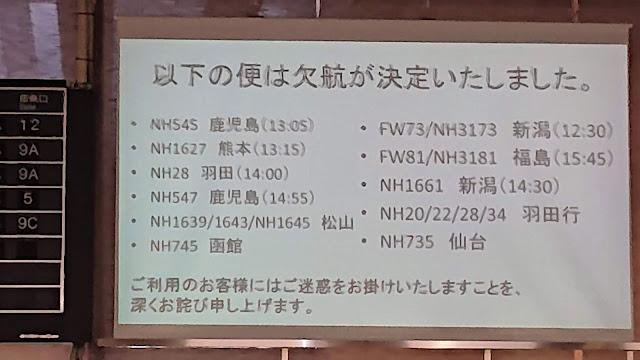 伊丹空港 ANA欠航 ナイフ男