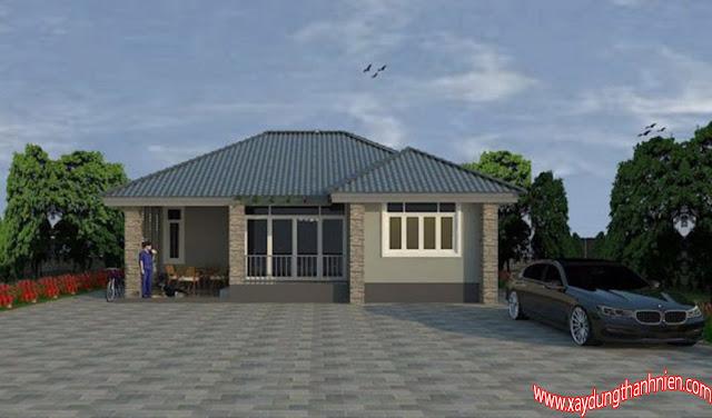 Mẫu Nhà Mái Thái 3 Phòng Ngủ Thiết Kế Thông Minh
