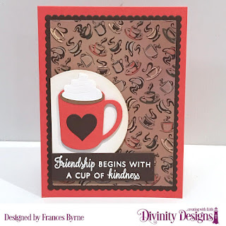 Stamp/Die Duos: Perk Up, Cocoa & Coffee   Custom Dies:  Coffee Heart Beat, Circles, Rectangles, Scalloped Rectangles, Sentiment Strips  Paper Collection:  Latte Love