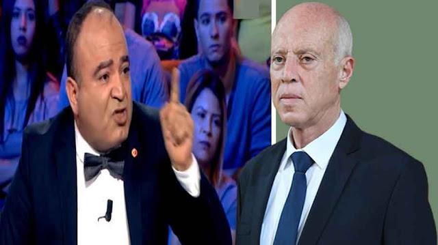 محمد بوغلاب قيس سعيد mohamed boughaleb et kais saied