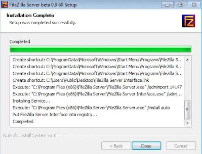 FileZilla Finishing Instalation