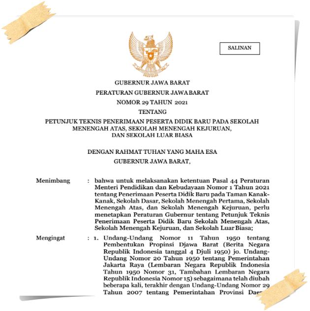 Download Juknis PPDB SMA/SMK/SLB Prov. Jawa Barat Tahun 2021